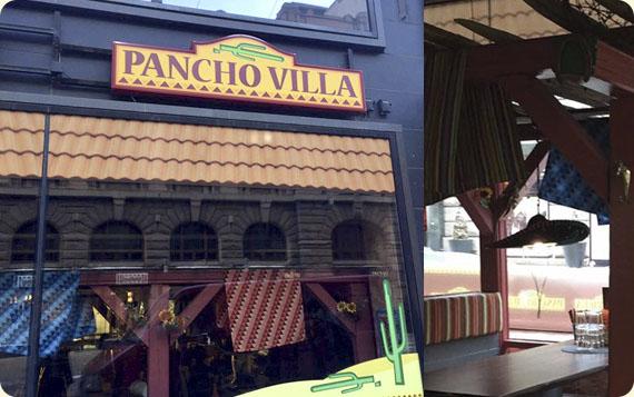 Ravintola Pancho Villa Helsinki, Kluuvi - julkisivu ja loosi