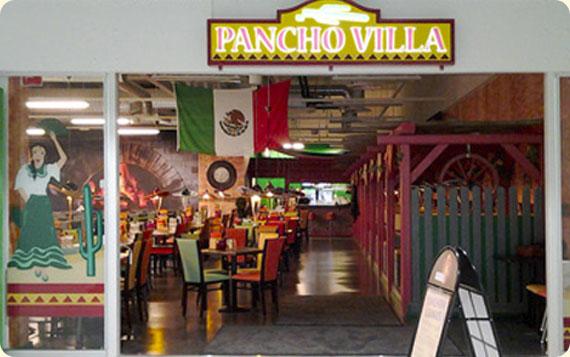 Ravintola Pancho Villa Oulu, Ideapark - sisäänkäynti ja valomainos
