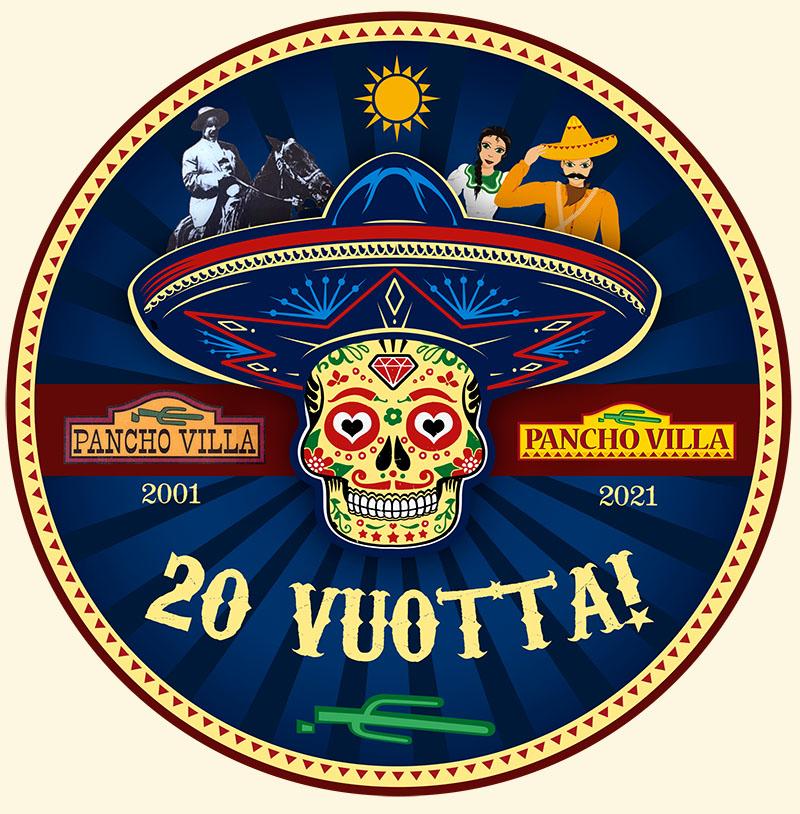 Pancho Villa 20 vuotta logo
